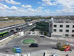 "View from my hotel in the entirely unconvincing location of ""Madrid airport"" (15082145197).jpg"