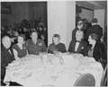 View of table at the dinner honoring President Truman and Vice President Alben Barkley at the Mayflower Hotel in... - NARA - 200009.tif