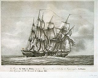 French heavy frigate, later captured by the British and taken into service in the Royal Navy