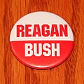 Vintage Political Pinback-Button - Reagan-Bush United States Presidential Campaign Button, 1980 & 1984 Campaigns, Measures 1.75 Inches In Diameter (46700838165).jpg
