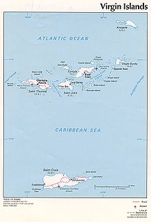 Virgin Islands Wikipedia - Us and british virgin islands map