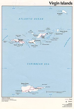 HDMS Lougen (1791) - Map of Virgin Islands
