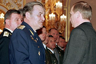 Korean Air Lines Flight 007 - Anatoly Kornukov receiving an award from Vladimir Putin in the Grand Kremlin Palace, Moscow (2000)