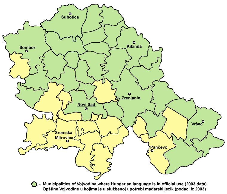 Vojvodina hungarian map