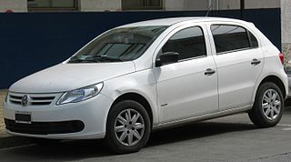 Volkswagen Gol A subcompact car manufactured by Volkswagen do Brasil