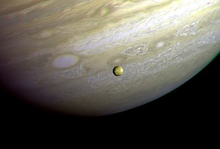 Jupiter and Io photographed by the Voyager 2 probe on 9 July 1979, NASA photo<br />Source: https://en.wikipedia.org/wiki/File:Voyager_2_Jupiter_Io.jpg 320px-Voyager_2_Jupiter_Io.jpg