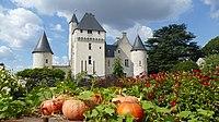 Vue de la façade du château du Rivau depuis le conservatoire des légumes.jpg