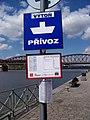 Vyšehrad, přístaviště Výtoň, přívoz P5, označení zastávky.jpg