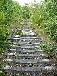 Vysocany concrete rail ties former Northwestern railway.jpg
