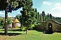 WLM14ES - Colomar a l'interior del pati de planta circular i coberta cònica amb vidriat, Masia Can Vendrell de la Codina, Sant Pau d'Ordal, Subirats - MARIA ROSA FERRE.jpg