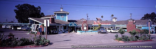 The Former Wagon Wheel Motel And Restaurant In Oxnard, California. The Motel  Is At The Left. It Was Demolished In 2011.
