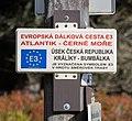 Walking route E3 sign - Jeseniky, Czech Republic 11.jpg