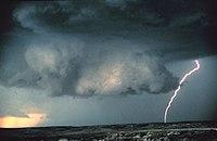 Wall cloud with lightning - NOAA.jpg