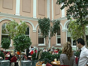 Tearoom (UK and US) - Tea room in the palm court at the Wallace Collection