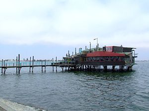 Walvis Bay - 'The Raft' a popular restaurant in Walvis Bay