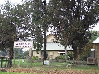 Wamoon Town in New South Wales, Australia