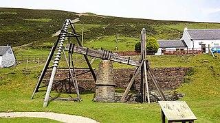 Wanlockhead beam engine beam engine in Dumfries and Galloway, Scotland, UK