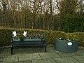 War memorial bench, Kirkstall (geograph 6013959).jpg