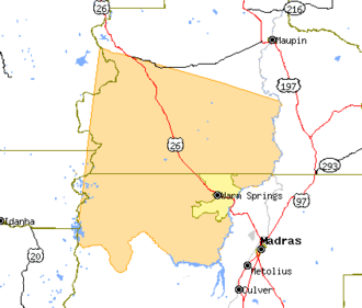 Warm Springs Indian Reservation - Map of the Warm Springs Indian Reservation