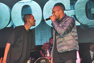 Warren G - Warren G (right) performing with Kurupt in 2015