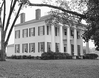 Burkville, Alabama - Warren Stone House, known as Magnolia Crest, built c.1840 in Burkville