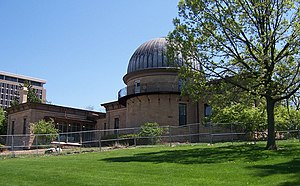 Washburn Observatory - Washburn Observatory under renovation in Spring of 2009