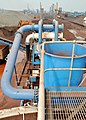 Waste discharge from cyclones feeding Aquacycle thickener (6325995496).jpg