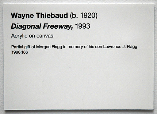 Examples of artwork labels the practical art world for Exhibit label template