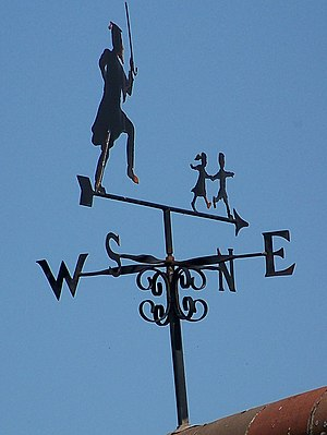 English: Weather vane, Hartgrove A very apt we...