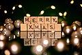 """Weihnachten, Schriftzug """"MERRY XMAS"""" -- 2020 -- 3713.jpg"""