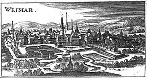Schloss Weimar - Image: Weimar Christoph Riegel 1686