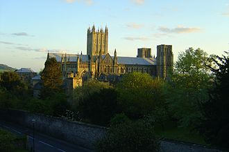 History of Somerset - Wells Cathedral – the first church on this site was built in 705 AD
