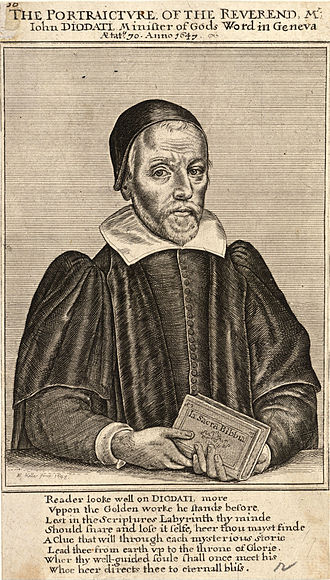 Giovanni Diodati - A 1647 engraving of Diodati by Wenceslas Hollar