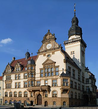 Werdau - The town hall in Werdau