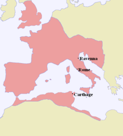 Location of Western Roman Empire