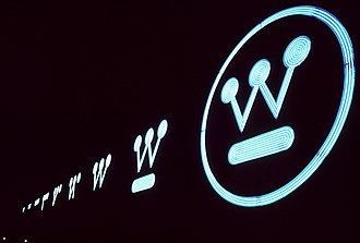 Paul Rand - Rand's Westinghouse Sign and logo.