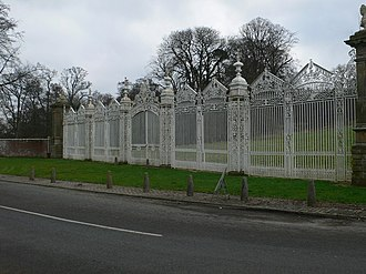 "Davies brothers of Bersham - The ""White Gates"" at Leeswood Hall, attributed to Robert and John Davies"