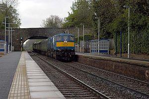 Whiteabbey railway station - Image: Whiteabbey railway station in 2008