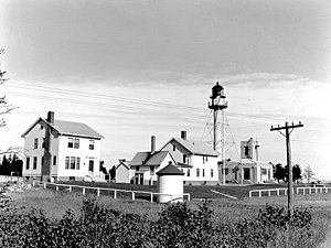 Whitefish Point Light - Vintage image of Whitefish Point Light station