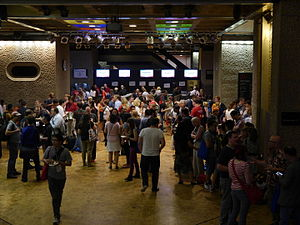 Wikimania 2014 welcome reception 02.jpg