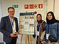 Wikimedians from Wales, Palestine and Jordan at EduWiki Education Conference, 2019.jpg
