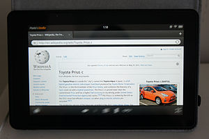 Kindle Fire - Image: Wikipedia Kindle Fire 1442