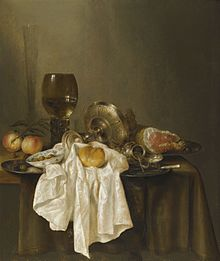 Willem Claesz. Heda (1594 – 1680): Csendélet (83 × 98 cm). Photo courtesy of Sotheby's.