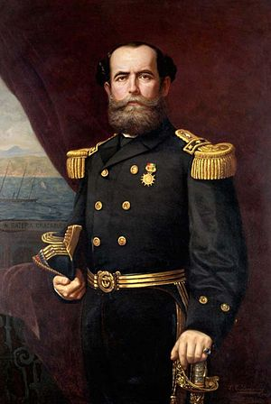 Juan Williams Rebolledo - Rear-Admiral Juan Williams Rebolledo by Manuel Antonio Caro in 1871