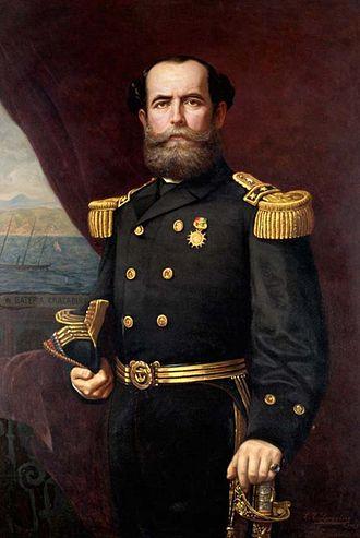 Juan Williams Rebolledo - Rear-Admiral Juan Williams Rebolledo by Manuel Antonio Caro in 1871