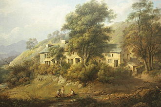 John Wilson (Scottish writer) - Wilson's house, Elleray painted by Alexander Nasmyth 1808