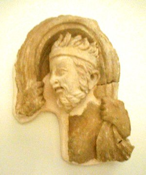 Anemoi - Greco-Buddhist fragment of the wind god Boreas, Hadda, Afghanistan