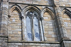 Cambuskenneth Abbey - Window detail at Cambuskenneth Abbey