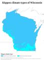 Wisconsin Köppen.png