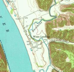 Wises Landing na mapie topograficznej 1953 Betlejem, Indiana 1:24000